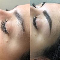 Brow Shaping with Tinting