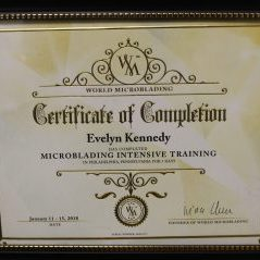 Eyebrow Microblading Certified 1/2018